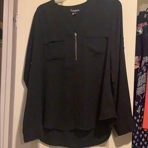 Express Long sleeve black blouse